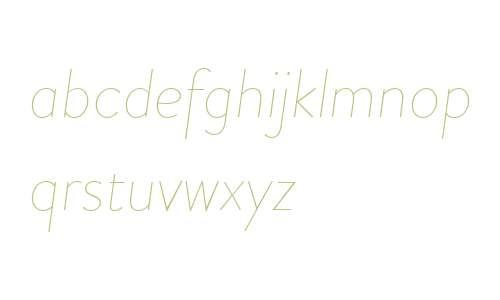 Brandon Grot W02 Thin Italic