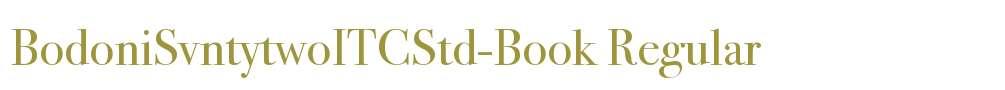 BodoniSvntytwoITCStd-Book