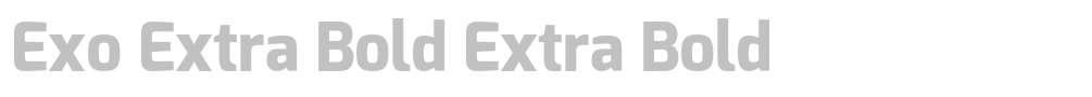 Exo Extra Bold
