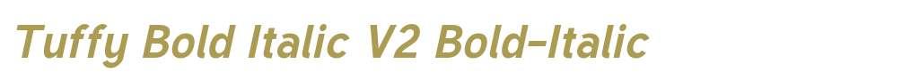 Tuffy Bold Italic V2