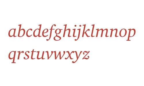 Charter BT Italic
