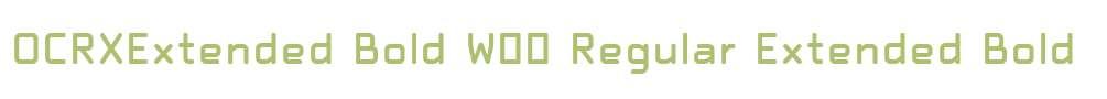 OCRXExtended Bold W00 Regular