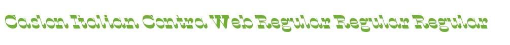 Caslon Italian Contra Web Regular Regular