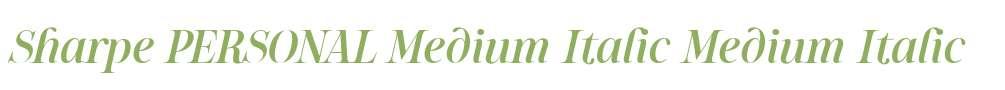 Sharpe PERSONAL Medium Italic