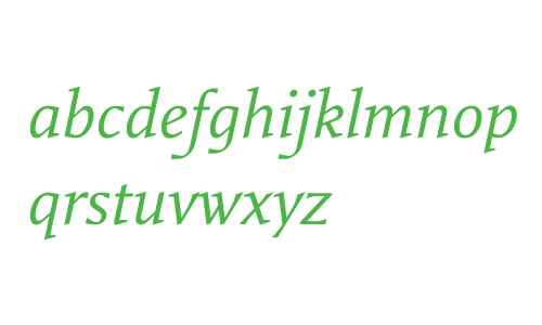 Rebecca Samuels W03 Italic