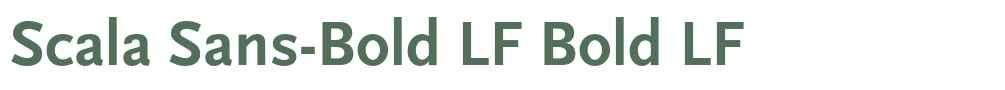 Scala Sans-Bold LF