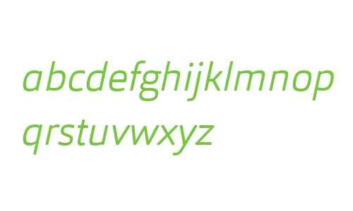 Orgon W03 Light Italic