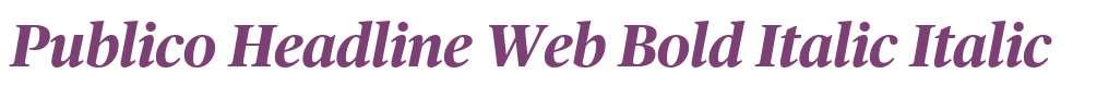 Publico Headline Web Bold Italic