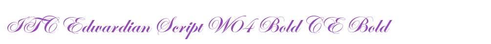 ITC Edwardian Script W04 Bold