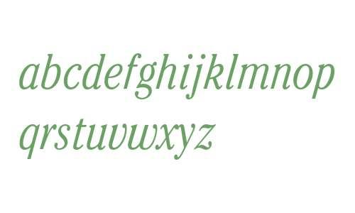 ITC Cheltenham Light Condensed Italic