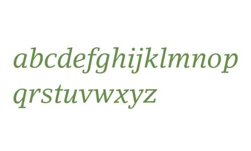 LinoLetter Std Italic