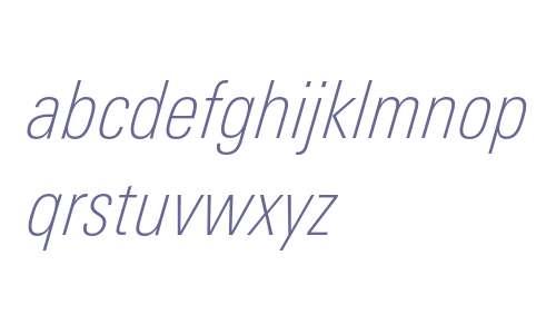 LinotypeUnivers-CondThinItalic