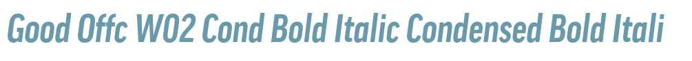 Good Offc W02 Cond Bold Italic