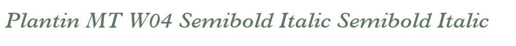 Plantin MT W04 Semibold Italic