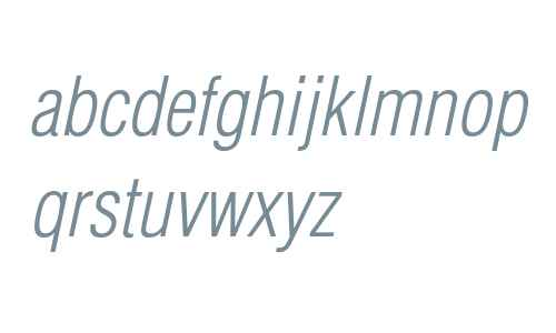 Helvetica LT Std Light Condensed Oblique