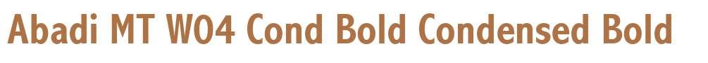 Abadi MT W04 Cond Bold