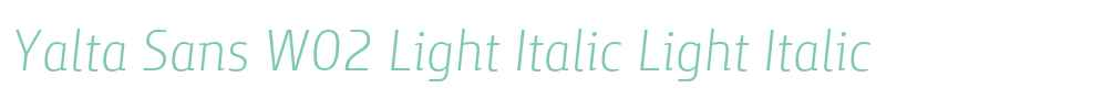 Yalta Sans W02 Light Italic