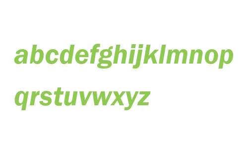 ITC Franklin Gothic LT Com Demi Italic