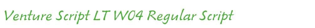 Venture Script LT W04 Regular