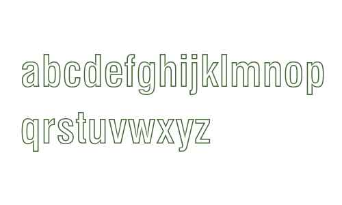 Swiss 721 Bold Condensed Outline