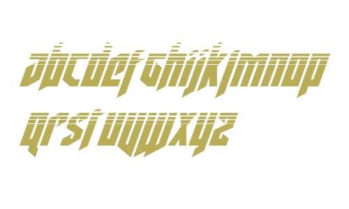 Deathshead Halftone Italic