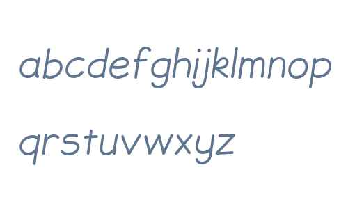 JollyGood Sans Light Italic