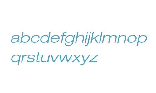 Helvetica Neue LT W0243LtExObl