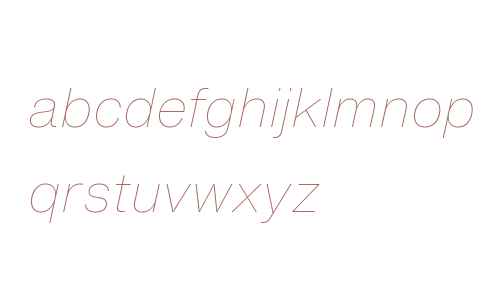 Helvetica Now Text W04 Thin It