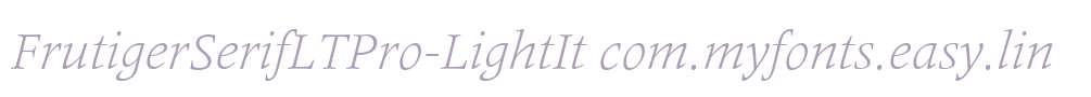 FrutigerSerifLTPro-LightIt