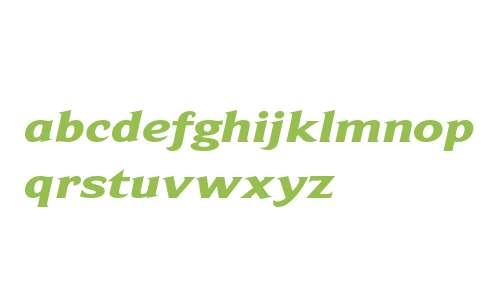 BeaufortExtendedHeavy Italic