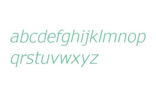 Verdana Pro W01 Light Italic