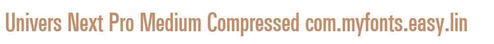 Univers Next Pro Medium Compressed