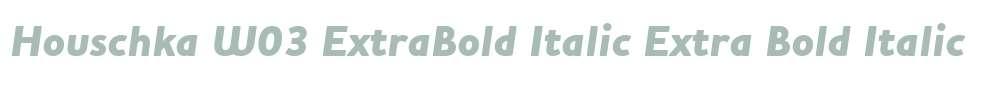 Houschka W03 ExtraBold Italic