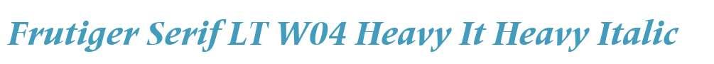 Frutiger Serif LT W04 Heavy It