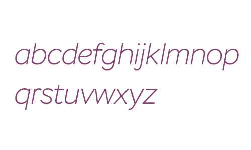 Stem Extra Light Italic