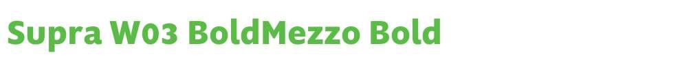 Supra W03 BoldMezzo
