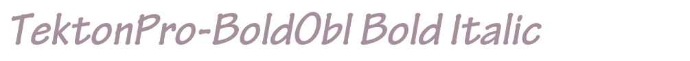 TektonPro-BoldObl