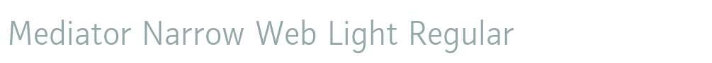 Mediator Narrow Web Light