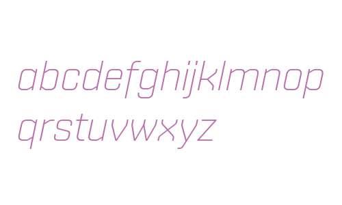 Shentox W04 UltraLight Italic
