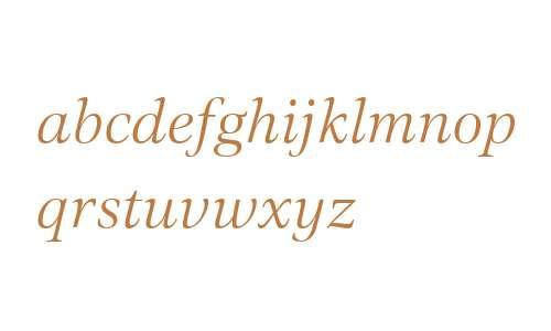 Civita W01 Light Italic