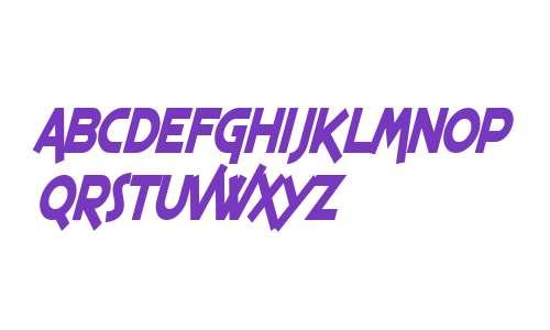 SF Espresso Shack Condensed Bold Italic V2
