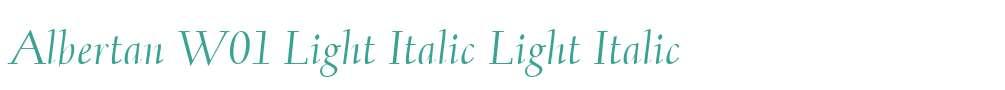 Albertan W01 Light Italic