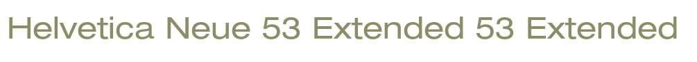 Helvetica Neue 53 Extended