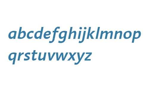 Linotype Aroma Semibold Italic V1