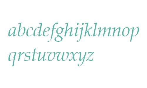 Palatino LT W04 Light Italic