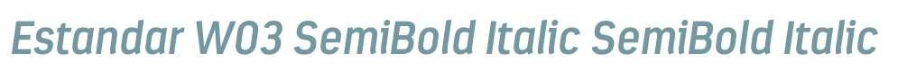 Estandar W03 SemiBold Italic