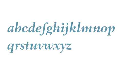 Fairfield LH 76 Swash Bold Italic Old Style Figures