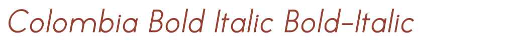 Colombia Bold Italic