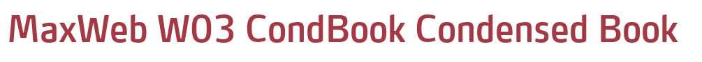 MaxWeb W03 CondBook