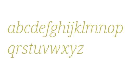 Generis Serif W04 Thin Italic